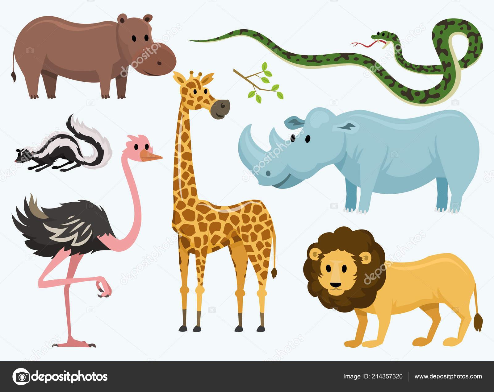 Animaux mignons pour b b rhinoceros girafe sauvage - Bebe autruche ...