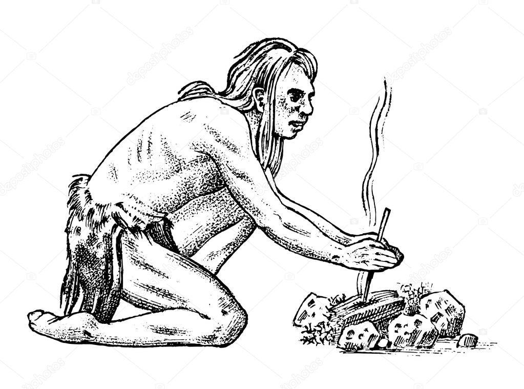 картинка первобытного человека рисующего опять из-за