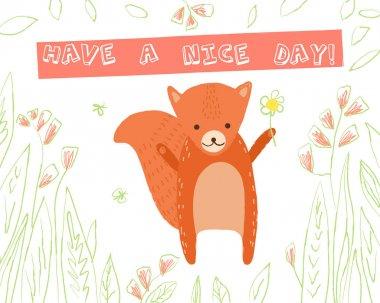 Animal greeting card