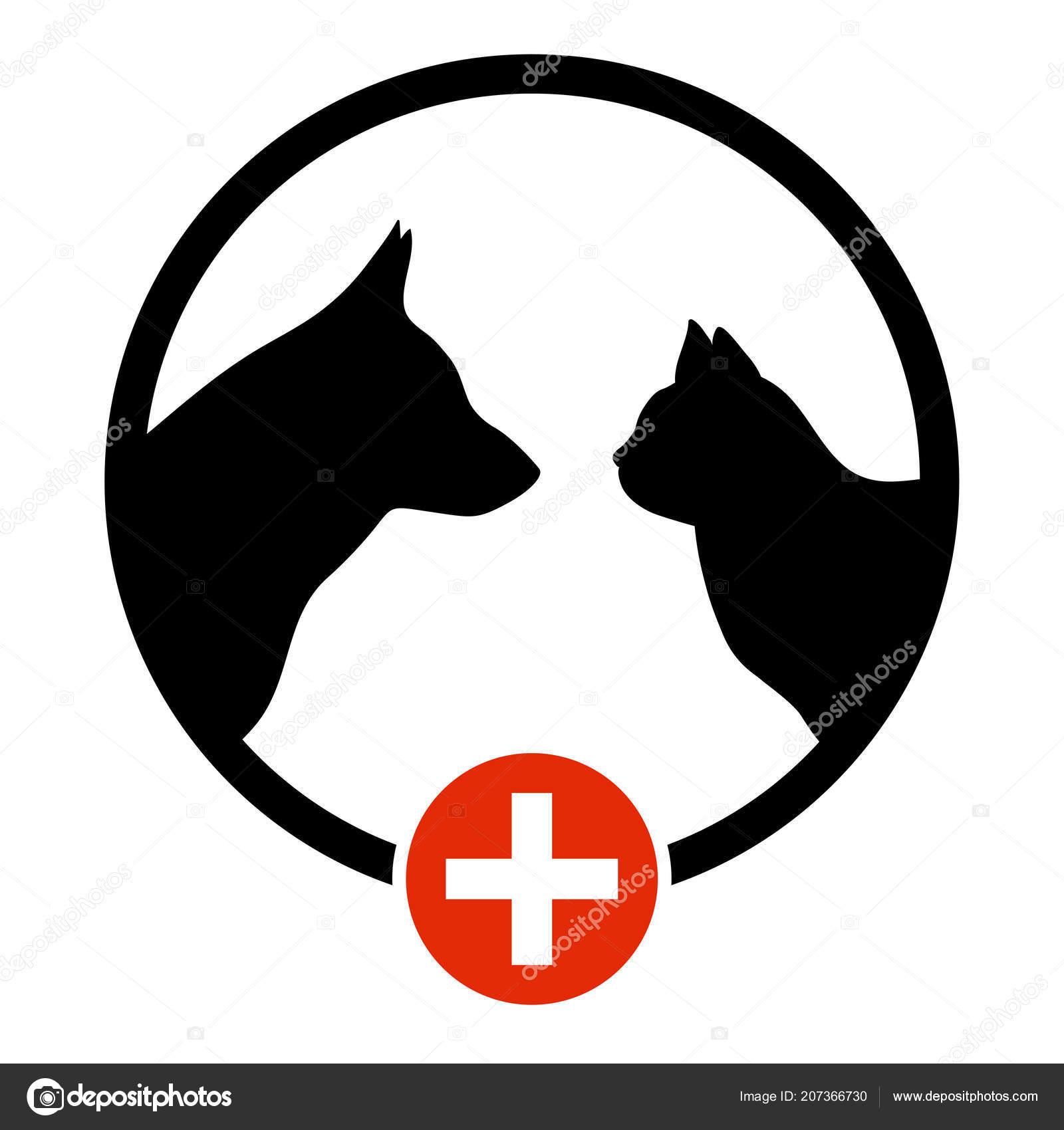 cão gato logo silhueta para negócios animais baby sitter animal