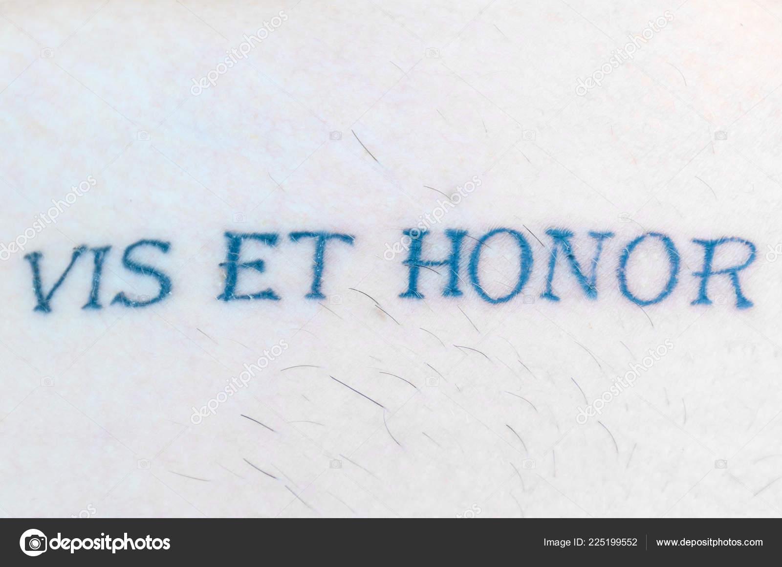 Vis Honor Latin Phrase Used Heraldry Meaning Strength Honour Skin