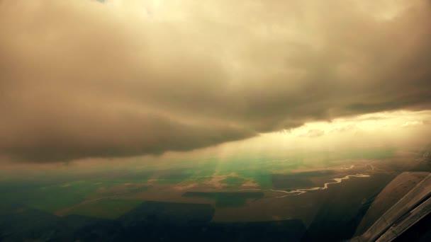 das Wolkenfederbett über der Kabine