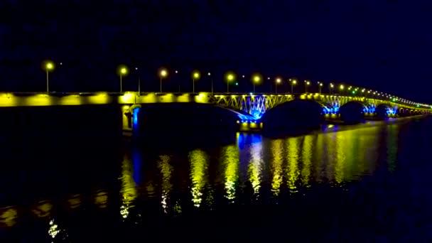 Road bridge in the lights