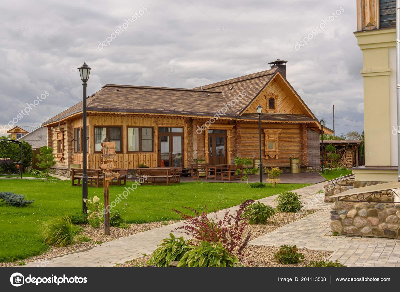 Petite Maison Bois Moderne Dans Style Russe Suzdal Russie 2017