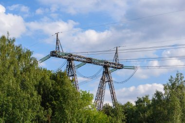 Support high voltage power line. The transfer of energy, the provision of electricity.