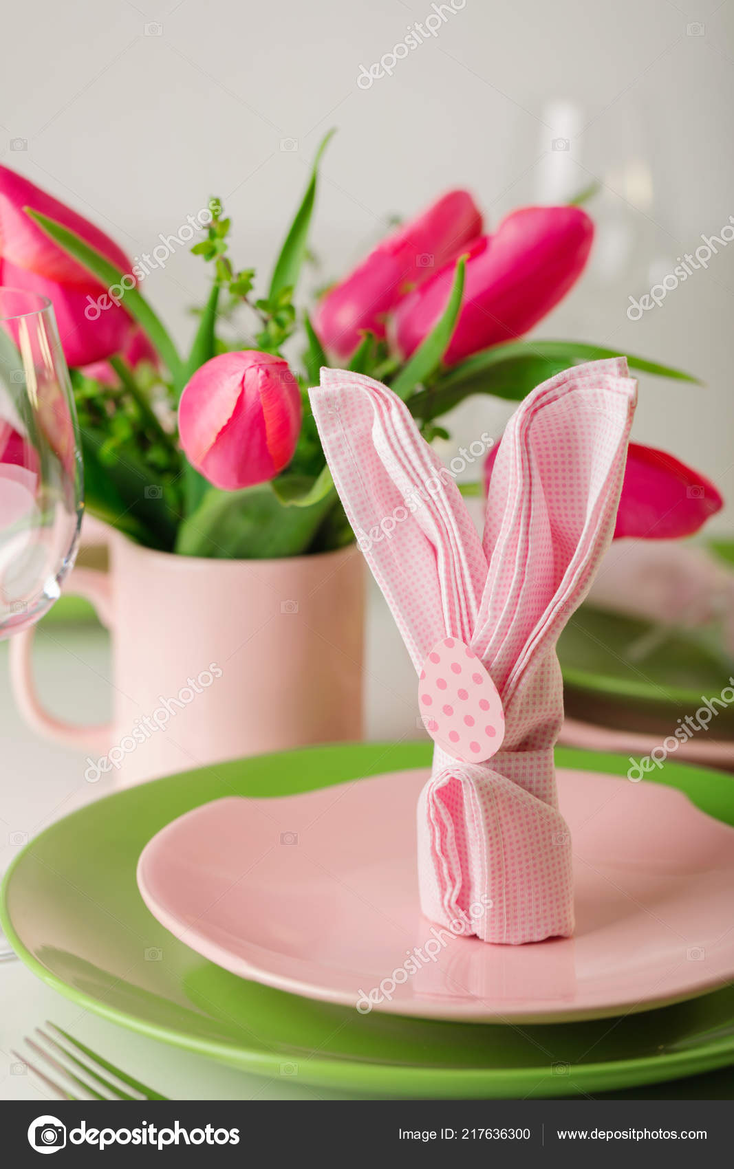 happy easter decor table setting easter table vase pink tulips