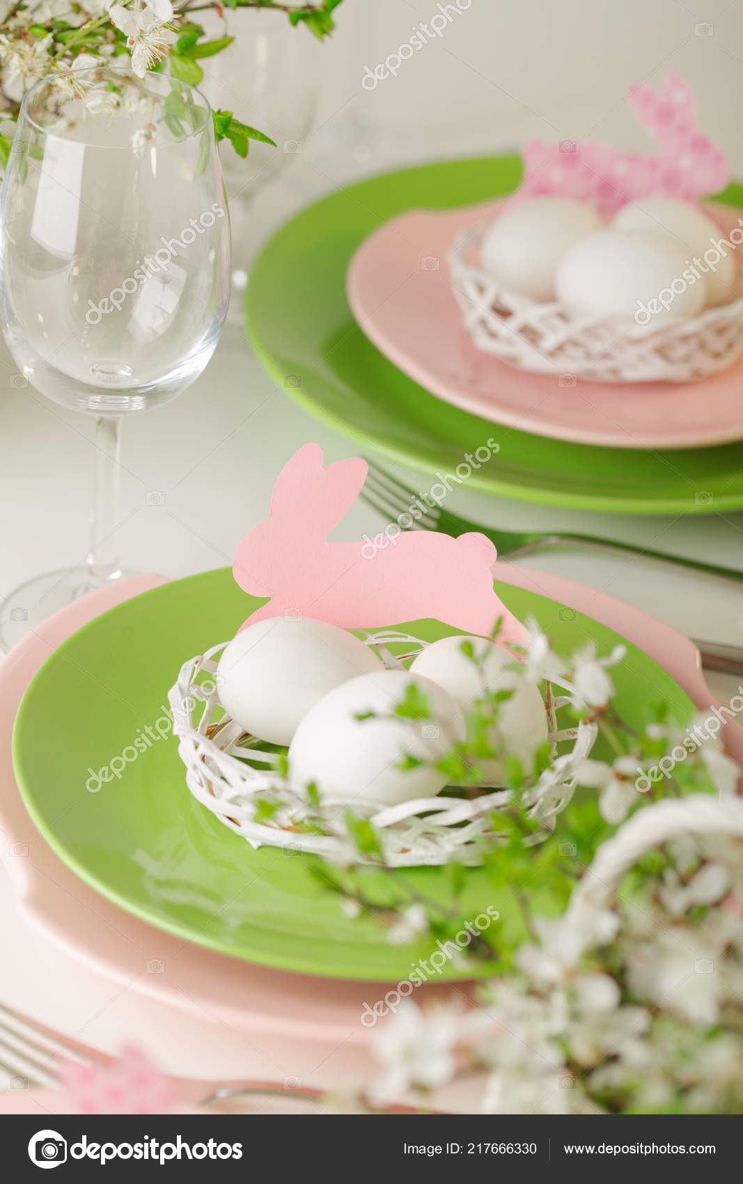 happy easter decor table setting easter table branches flowering