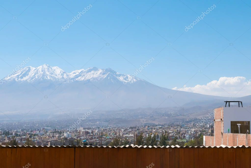 Arequipa in a sunny day panoramic view Peru