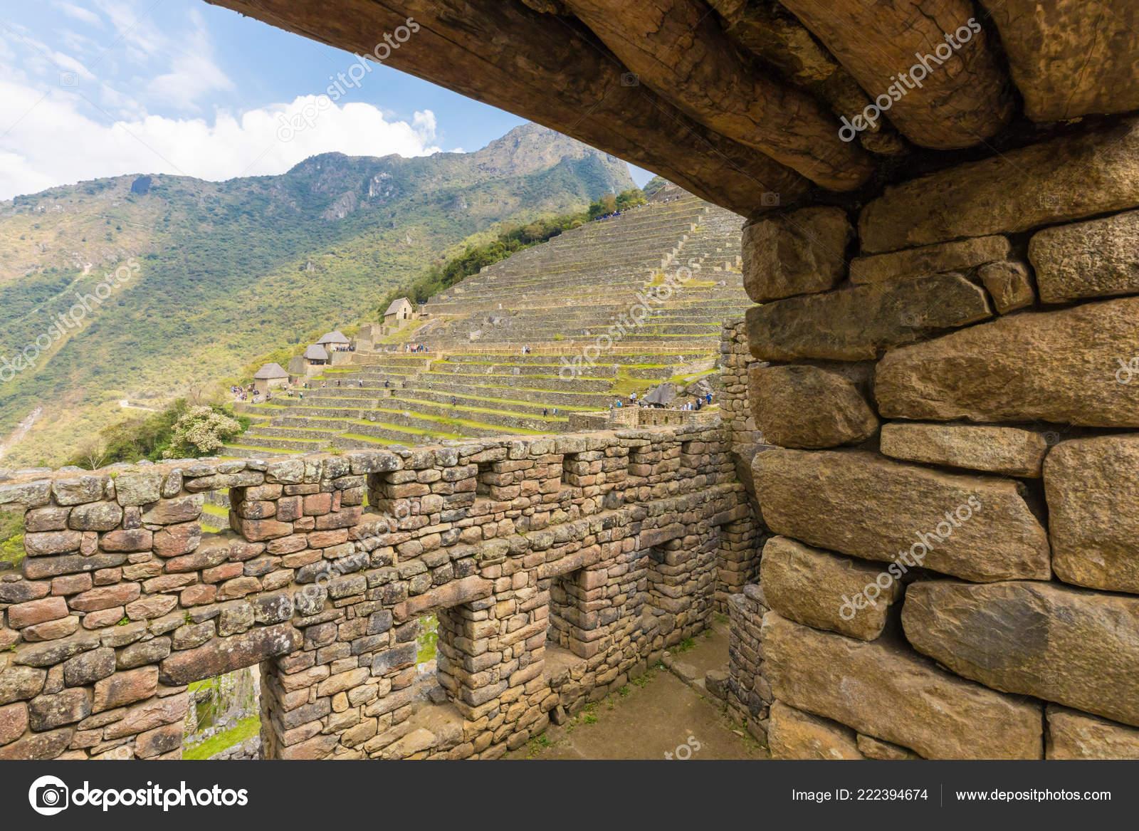 Machu Picchu Perú Septiembre 2018 Estas Terrazas Fueron