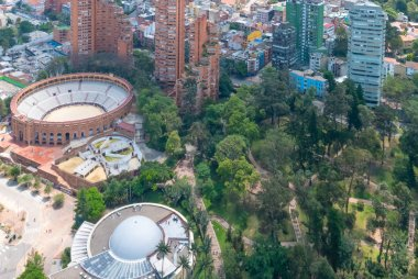 Bogota bulls square arena and planetarium building aerial view