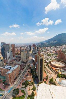 Bogota Santa Fe district aerial view