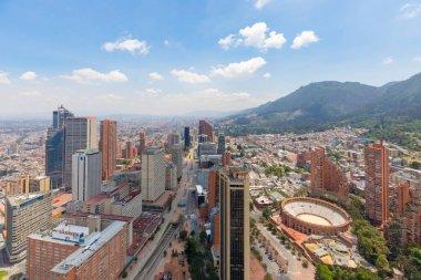 Bogota tenth street aerial view Santa Fe district