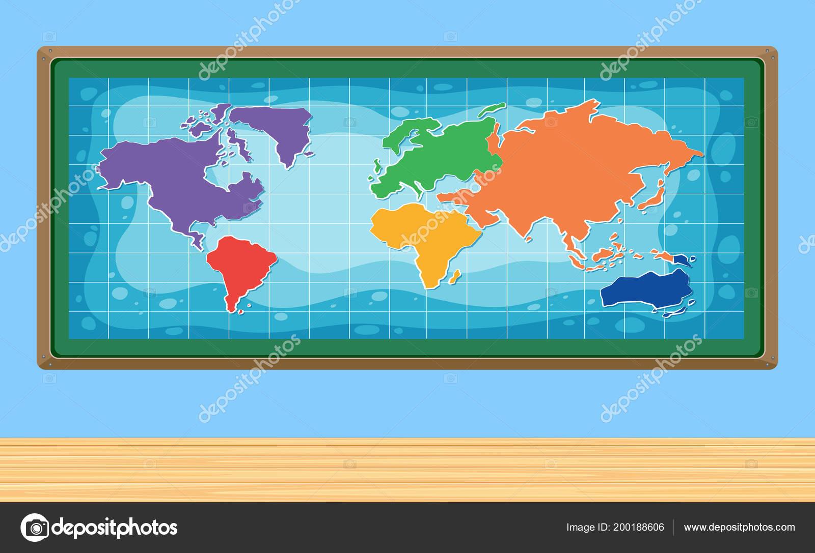 World Map Frame Illustration Stock Vector C Brgfx 200188606