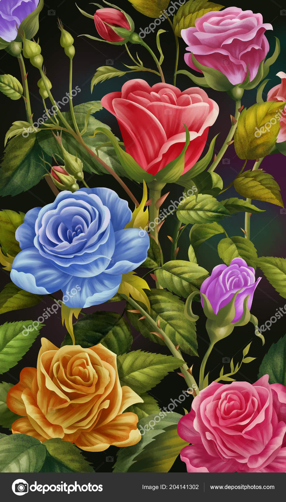 Floral Phone Backgrounds Floral Background Colorful Rose Flowers