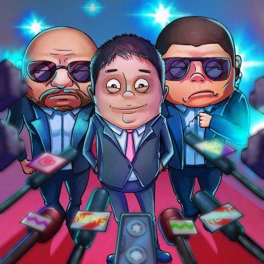 Chinese Billionaire. Realistic Caricature Cartoon Style, Video Game's Digital CG Artwork, Concept Illustration Design