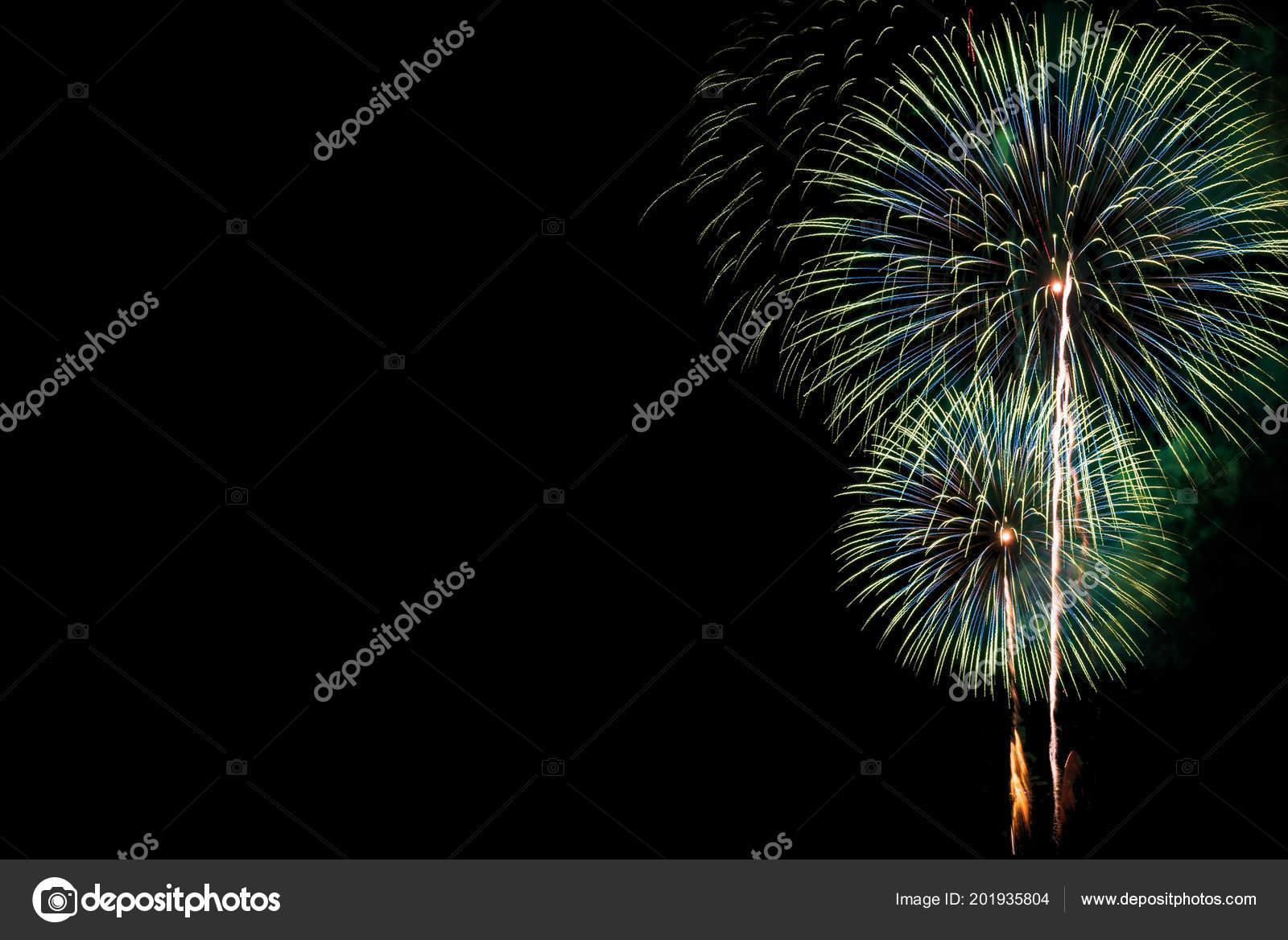 Rainbow Fireworks Celebration Colorful Abstract Image With: Abstract Beautiful Colorful Fireworks Display Celebration