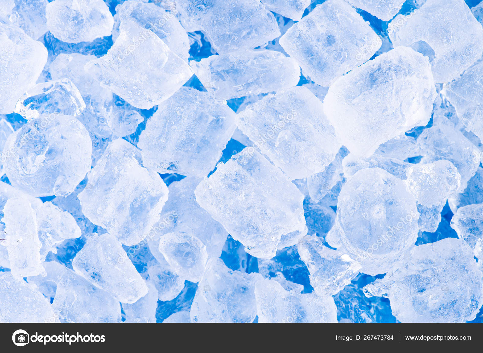 Close Up Fresh Cool Ice Tube Background And Texture