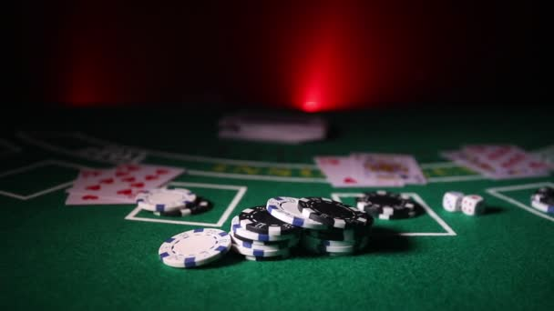 Cards Chips Green Felt Casino Table Abstract Background Copy Space — Stock  Video © zeferli@gmail.com #250096866
