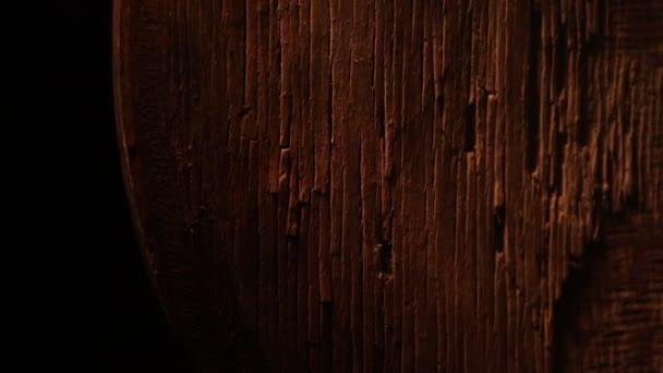 Texture in legno vintage scuro. Vista ravvicinata della vecchia superficie grunge in legno scuro. Messa a fuoco selettiva
