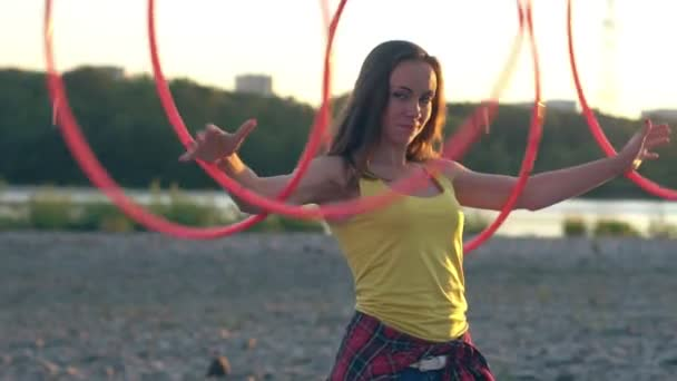 girl with Hoop in nature