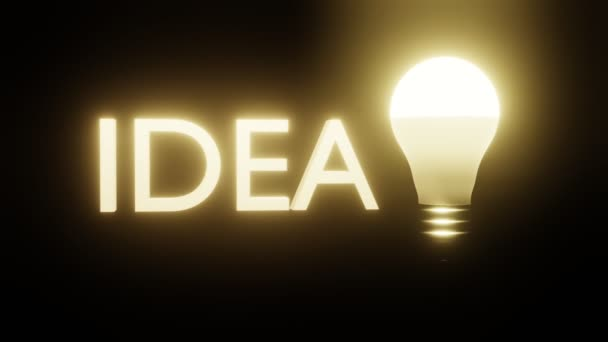 3D lettering idea and burning light bulb