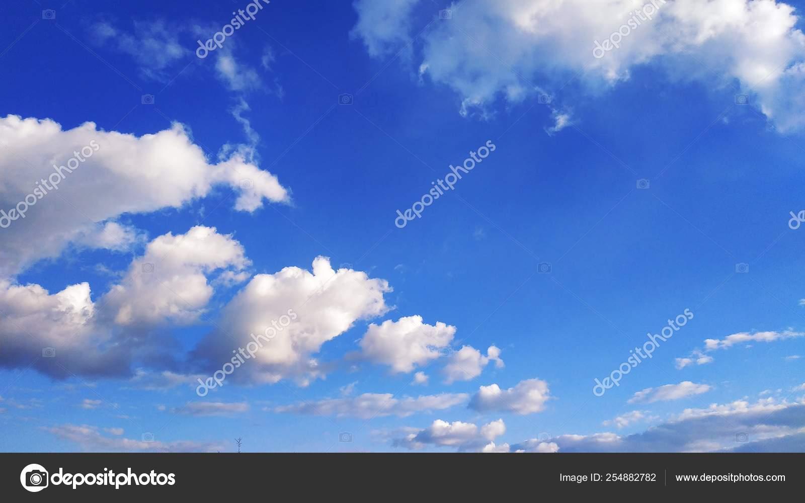 Ciel Bleu Nuages Blancs Nature Ordinateur De Bureau