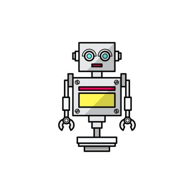 Friendly cartoon robot