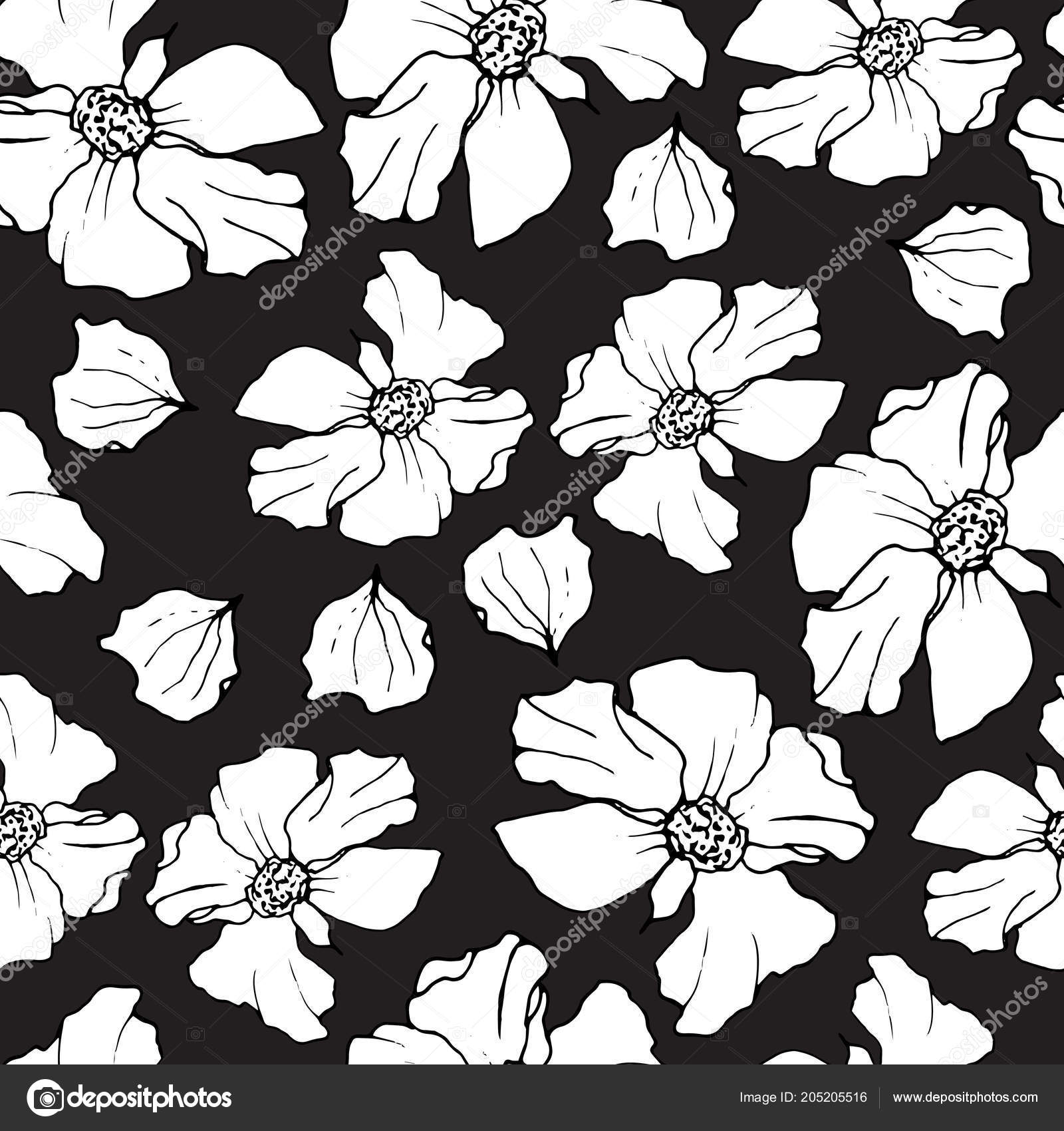 Pomegranate Seamless Pattern Floral Vector Repeat Background On