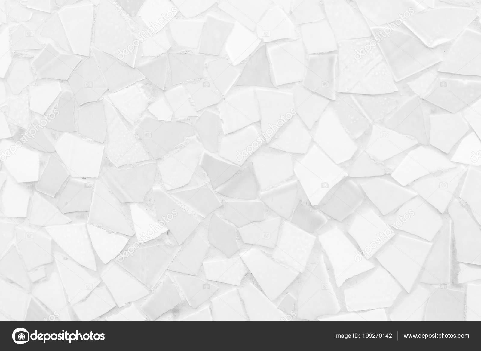 Tegels Met Patroon : Gebroken tegels mozaïek naadloze patroon wit grijs tegel wand hoge