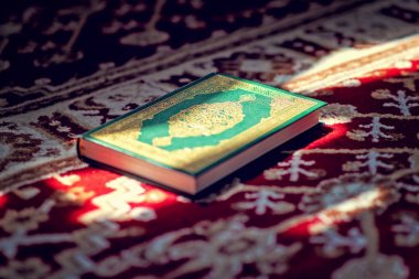Koran - holy book of Muslims public item of all muslims in mosque
