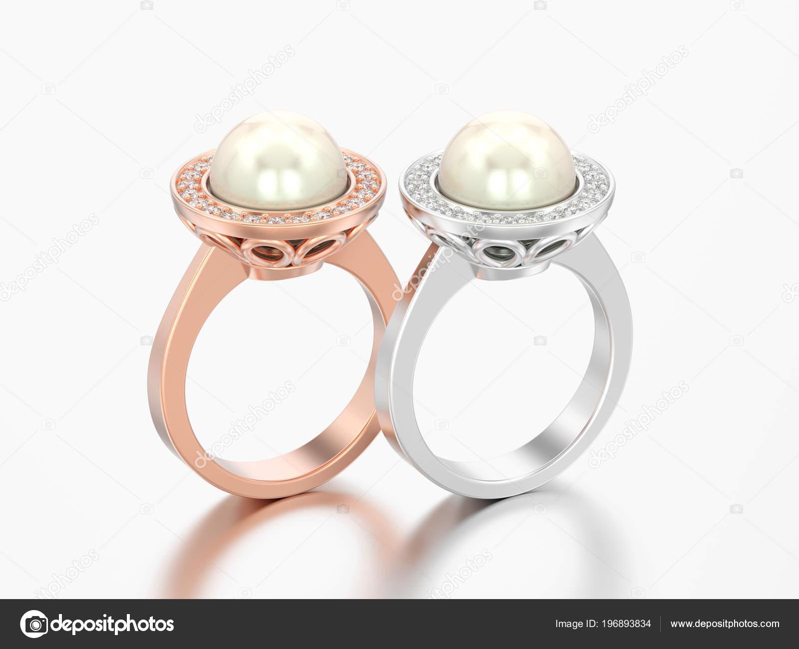 Obrazek Dve Ruze Zlate Stribrne Diamantove Zasnubni Snubni Prsteny