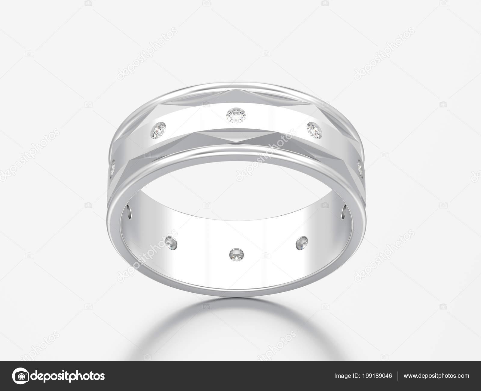Abbildung Weißgold Oder Silber Gold Modern Hochzeit Diamant