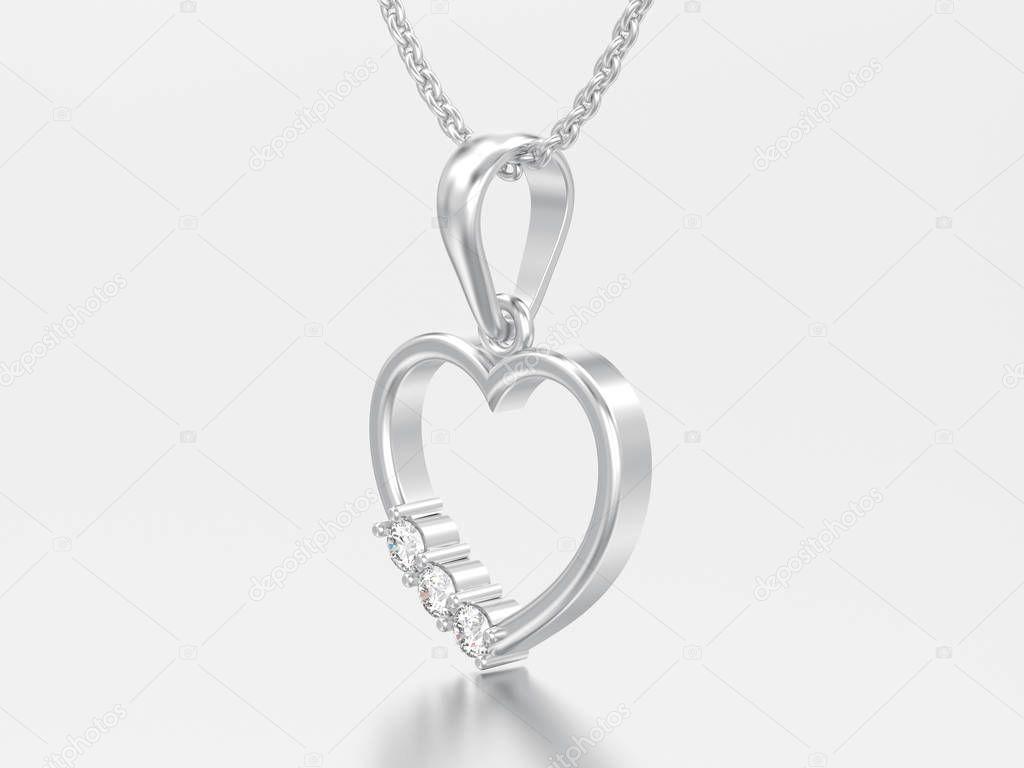 c3b33bac0 Obrázek Bílé Zlato Nebo Stříbro Diamantové Srdce Náhrdelník Řetízku Šedém —  Stock Fotografie © 3djewelry #199490924
