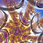 Fractal 2D texture. Computer illustration