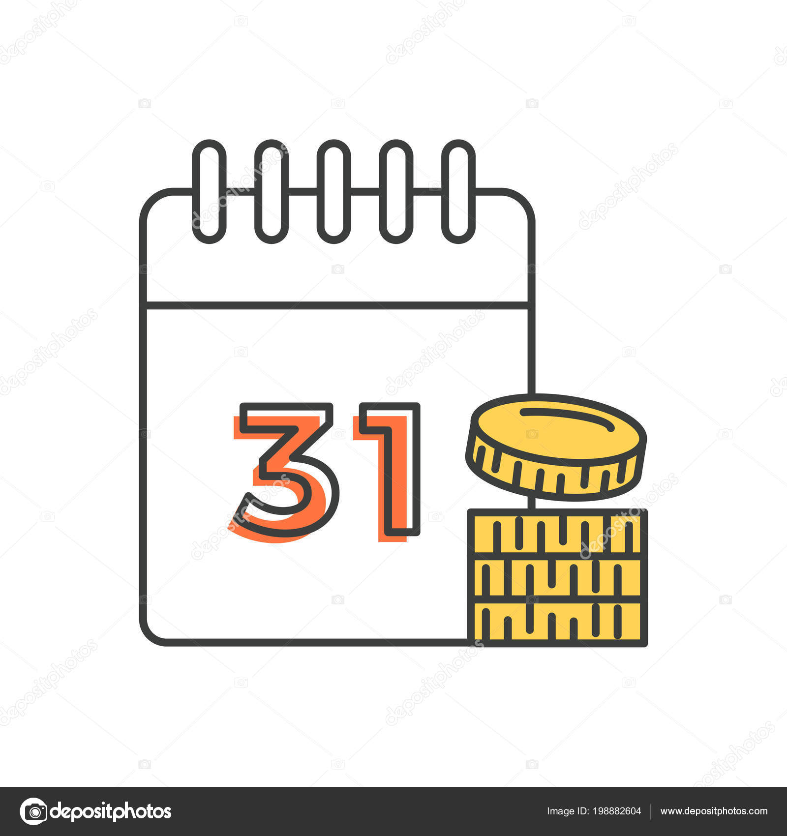 Calendario Con Numero Giorni.Calendario Con Numero E Monete Debito Su Mutui E Credito