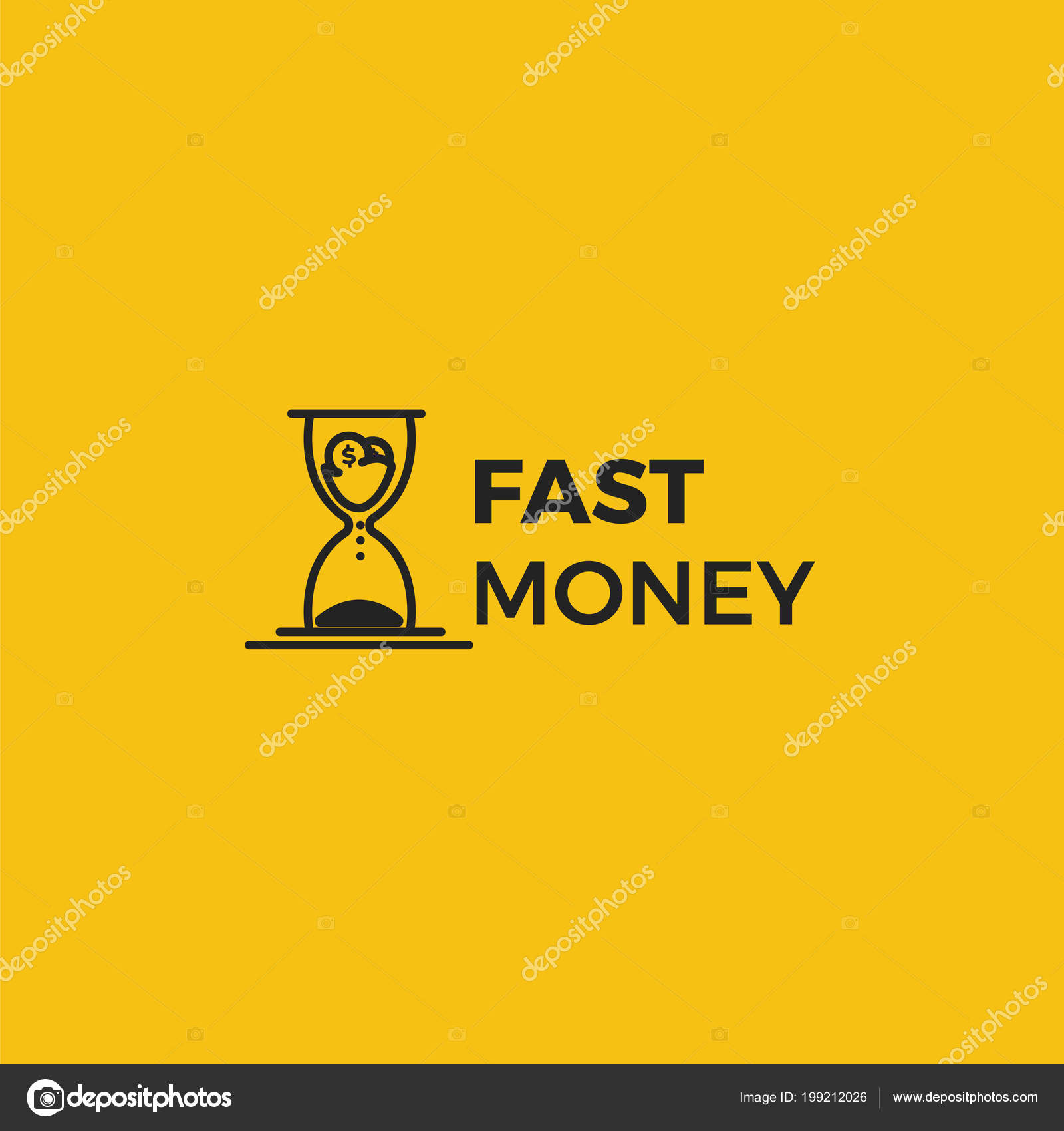 Fast money logo | Fast money logo  Time is money icons with