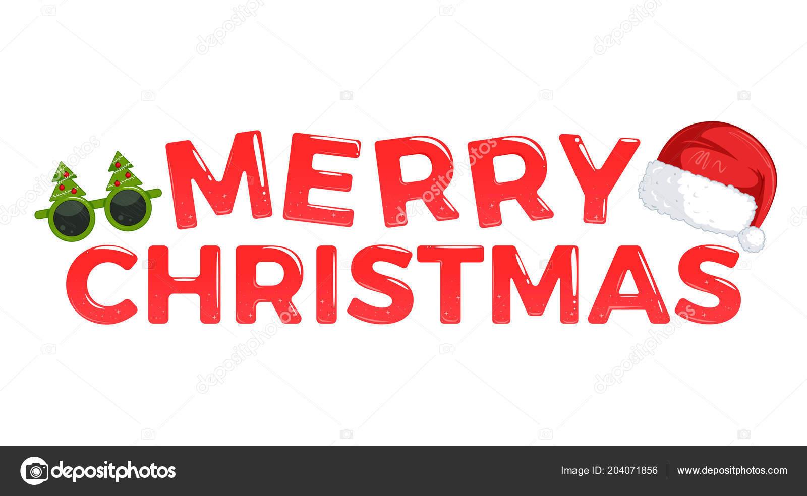 Stern Frohe Weihnachten.Frohe Weihnachten Brillante Kalligrafische Schrift Mit