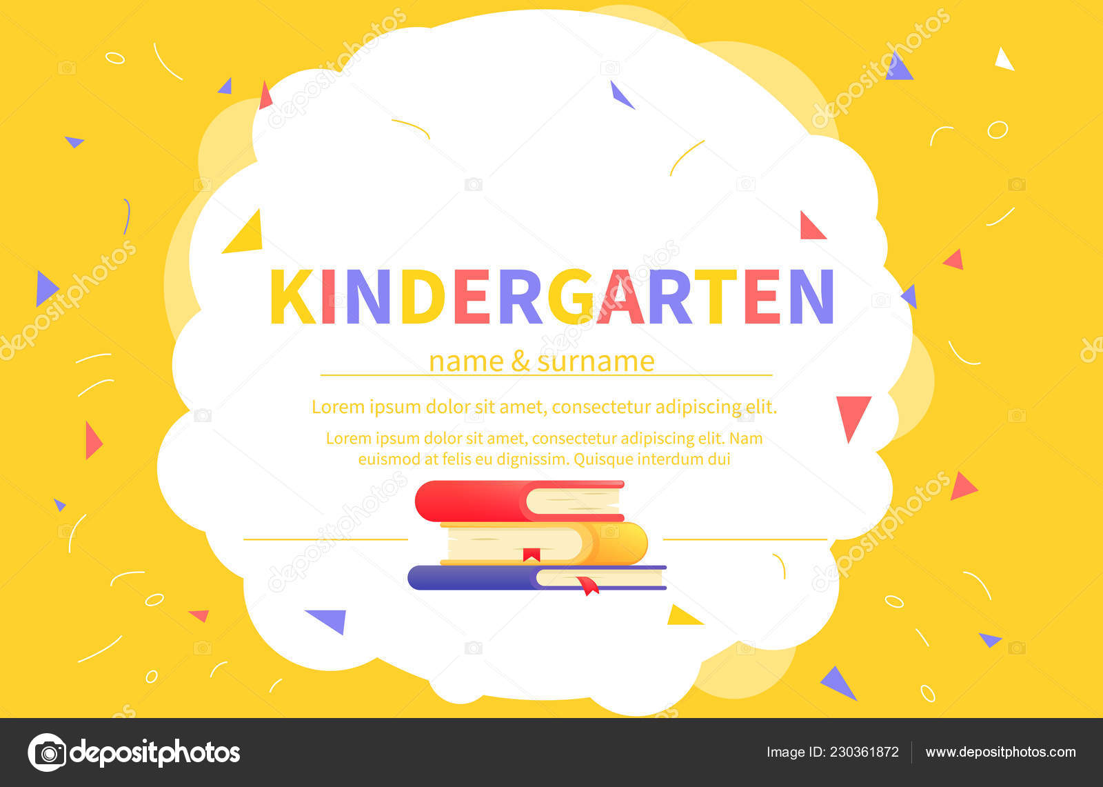 Kindergarten Certificate Templates For Student Kids Design Diploma