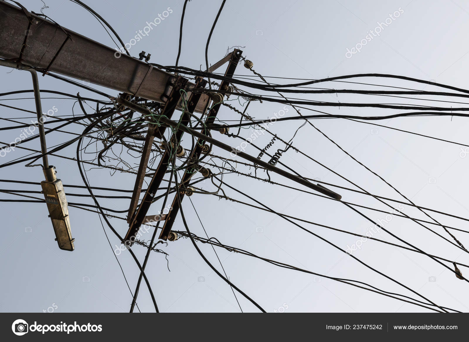 Surprising Ancient Electric Wires Street New Dehli India Stock Photo Wiring 101 Ferenstreekradiomeanderfmnl