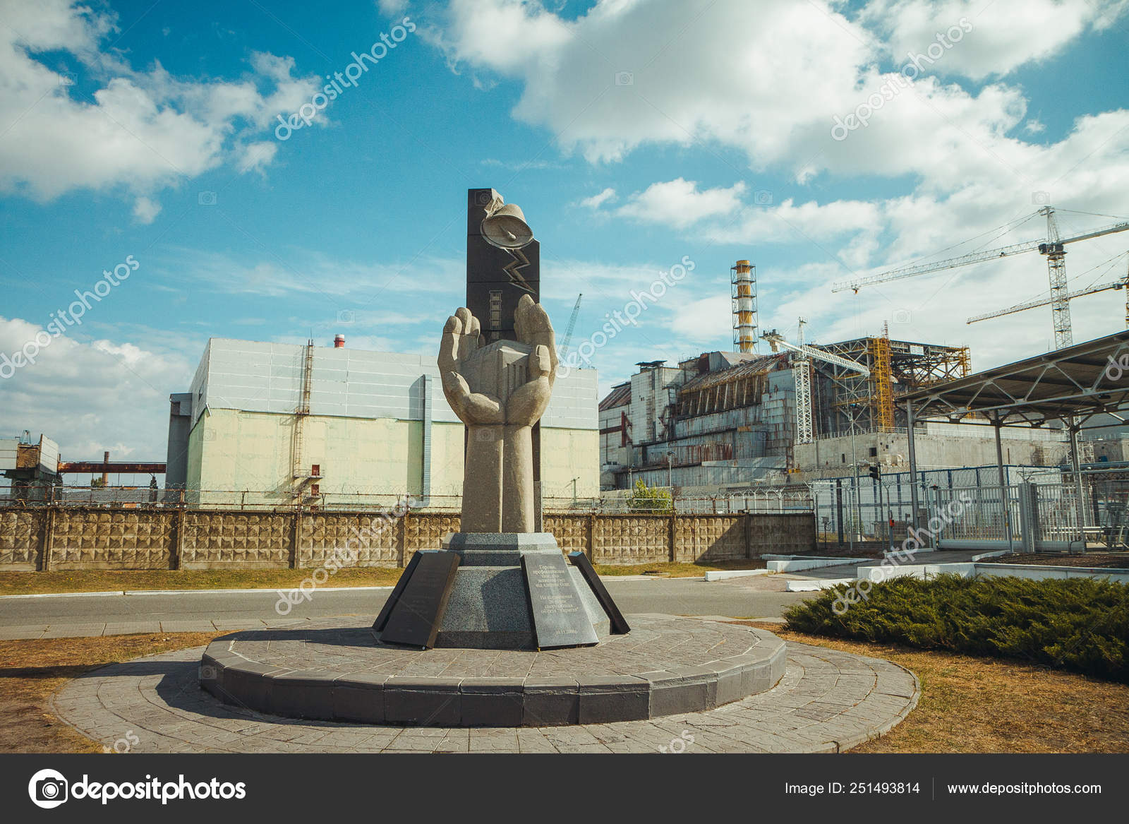 Monument to the Chernobyl Liquidators and fourth reactor
