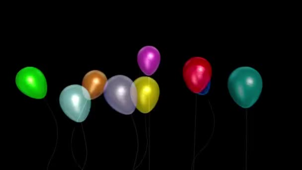 Balónky malý večírek model 5 alfa podklad 3D vykreslování animace