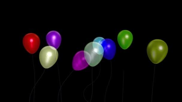 Balónky malý večírek model 7 alfa matný 3D vykreslování animace
