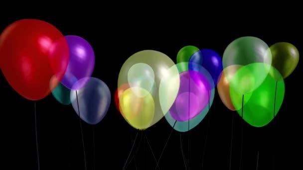 Balónky malý večírek model 12 alfa matný 3D vykreslování animace