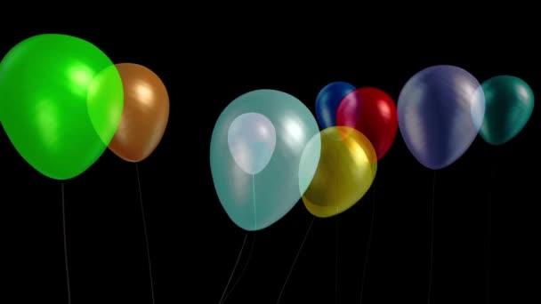 Balónky malý večírek model 9 alfa matný 3D vykreslování animace