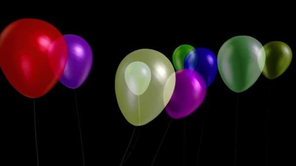 Balónky malý večírek model 11 alfa matný 3D vykreslování animace
