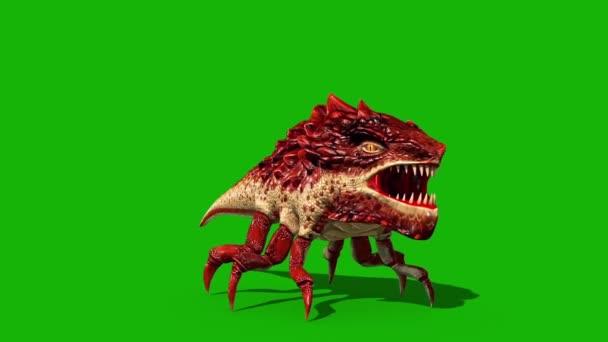 Dragon Bug Green Screen Halloween Monster Roar Front Loop 3d vykreslování Animace