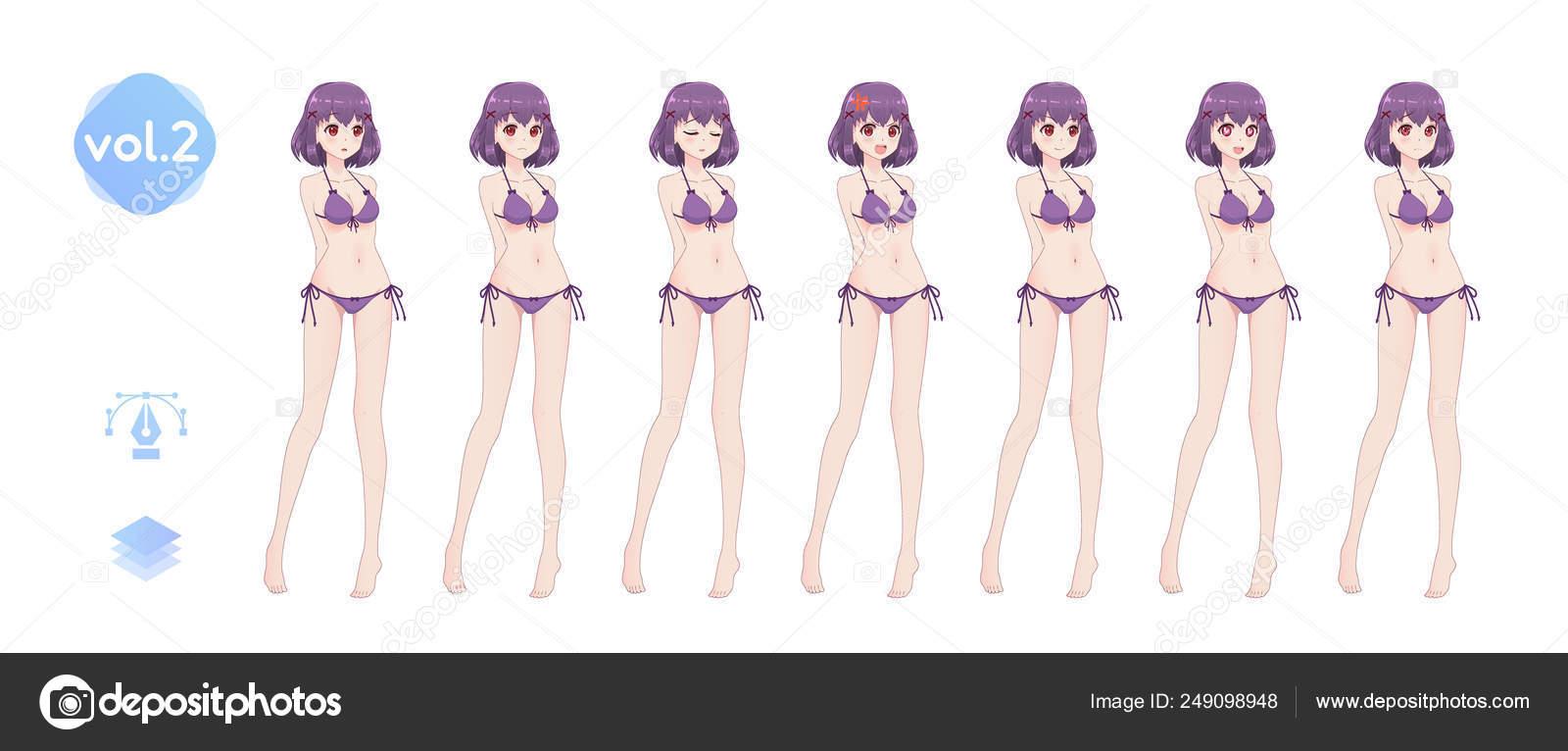 MangaEn Verano Chica Anime Bikini De Baño Traje Un 0mNn8vOw