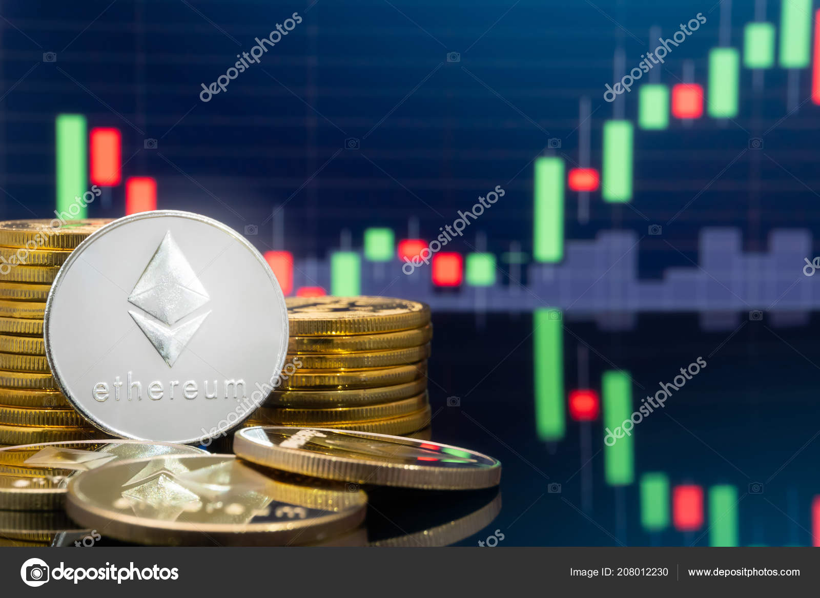 Ethereum Eth Cryptocurrency Investing Concept Physical Metal