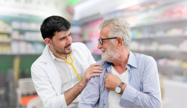 Patient visits doctor at the hospital. Concept of medical healthcare and doctor staff service.