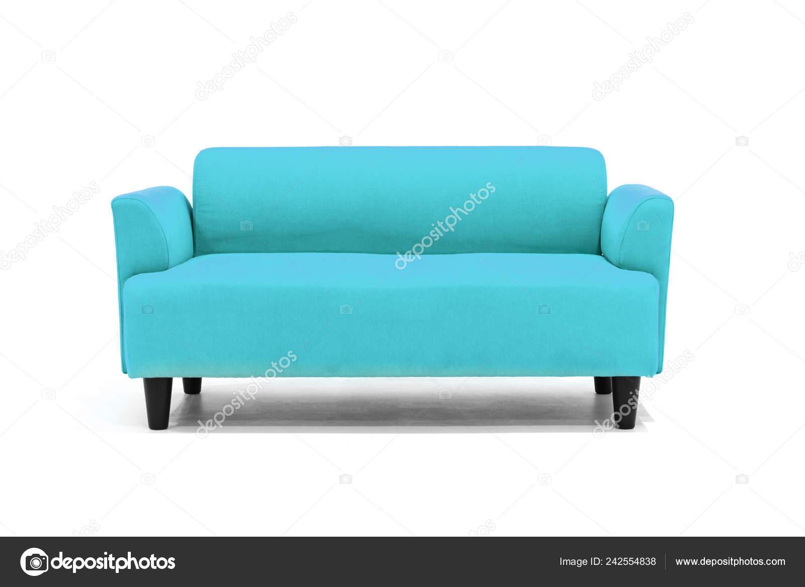 Light Blue Scandinavian Style Contemporary Sofa White